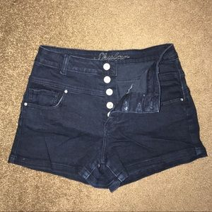 High waisted denim shorts from Delia's